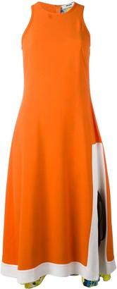 MSGM Side Panelled Midi Dress