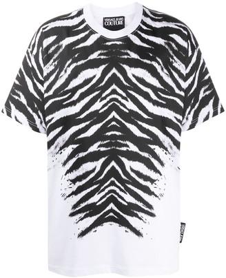 Versace oversized zebra print T-shirt