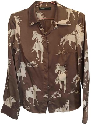 Et Vous Camel Silk Top for Women