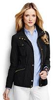 Classic Women's Petite Military Anorak Jacket-Black