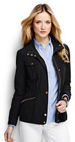 Lands' End Women's Petite Military Anorak Jacket-Black