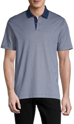 Theory Printed Short-Sleeve Polo