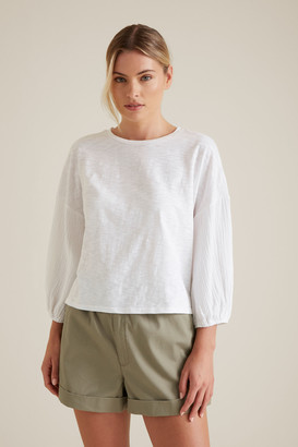 Seed Heritage Textured Blouson Top