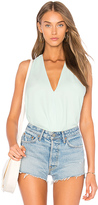 Krisa Surplice Tank in Mint. - size L (also in M,S,XS)