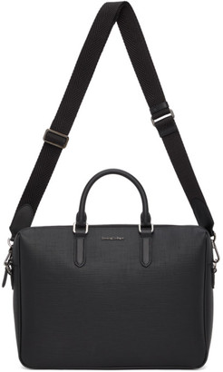 Ermenegildo Zegna Black Stuoia Briefcase