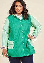 ModCloth Forecast Fascination Raincoat in XXS