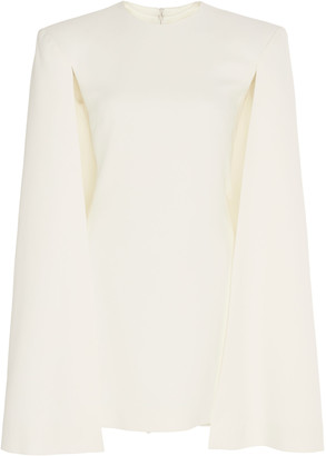David Koma Cape-Effect Crepe Dress