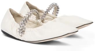 Jimmy Choo Gai embellished leather ballet flats