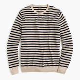 Lightweight Italian Cashmere Crewneck Sweater In Nautical Stripe