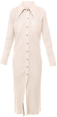 Nanushka Lee Pleated Shirt Dress