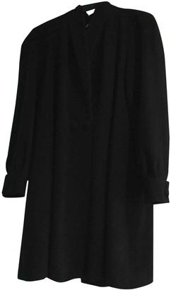 Emmanuelle Khanh Black Wool Coat for Women Vintage