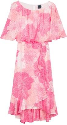 Gabby Skye Floral Ruffled Dress