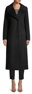 Calvin Klein Notch-Collar Wool Blend Coat