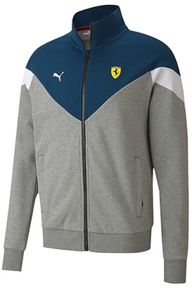 Puma Scuderia Ferrari Race MCS Sweat Jacket (Medium Gray Heather) Men's Clothing