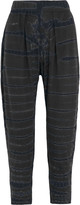 Raquel Allegra Tie-dyed stretch cotton-blend jersey tapered pants