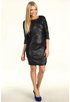 Susana Monaco Sequin Sheath Dress (Black) - Apparel