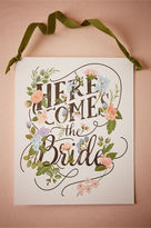 BHLDN Here Comes the Bride Sign