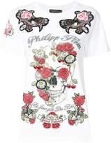 Philipp Plein rose print T-shirt