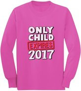TeeStars Funny Only Child Expires 2017 - Elder Sibling Toddler/Kids Long sleeve T-Shirt