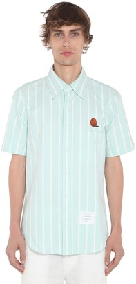 Thom Browne Straight Fit Oxford Short Sleeve Shirt