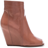 Rick Owens Open Toe Leather Wedges