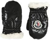 Moncler Nylon & Fauxshearling Gloves