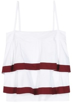 Tory Burch Sage Striped Cotton Top