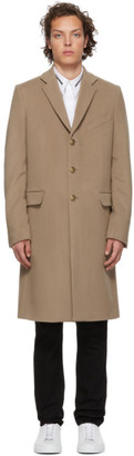 Givenchy Beige 3-Gold Buttons Trench Coat