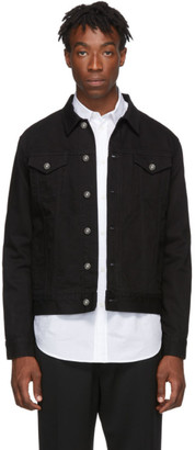 Givenchy Black Denim Signature Logo Jacket