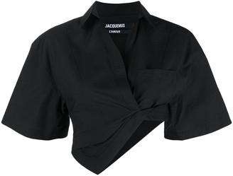 Jacquemus Cropped Asymmetric Shirt