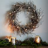 west elm LED Glitter Wreath