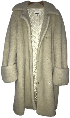 Maison Margiela Ecru Faux fur Coat for Women