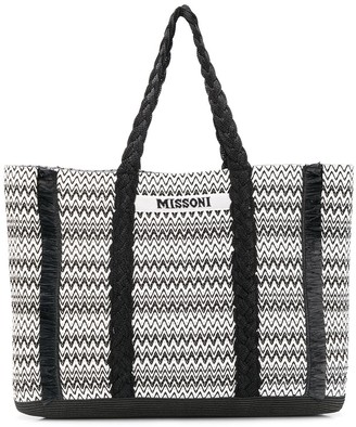 Missoni Mare Woven Style Fringed Detail Tote Bag
