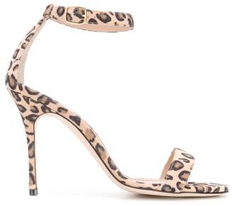 Manolo Blahnik Leopard Print Chaos High Sandal
