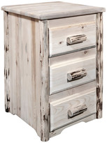 clear Montana Woodworks Montana Collection Nightstand With 3-Drawers, Lacquer Finish