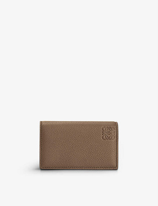 Loewe Logo-embossed leather business card holder