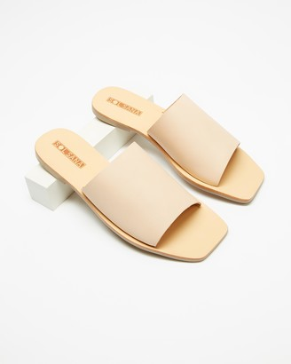 Sol Sana Women's Brown Flat Sandals - Mila Slides - Size 37 at The Iconic