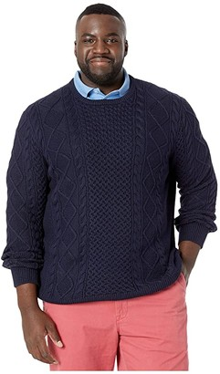 Polo Ralph Lauren Big & Tall Cable Knit Sweater (Hunter Navy) Men's Clothing