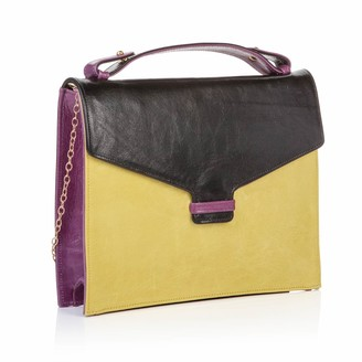 Nadia Minkoff The Fitzrovia Clutch Black Lemongrass