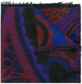 Etro fringed hem scarf - women - Cotton/Modal/Wool - One Size