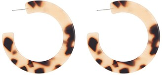 Argentovivo Blonde Tortoiseshell Thick Hoop Earrings