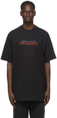 Vetements Black Keeping Up With The Gvasalias T-Shirt