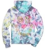 Butter Shoes Girls' Tie Dye Emoji Hoodie - Little Kid
