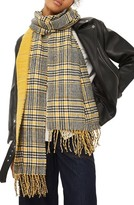 Topshop Women's Double Face Plaid Scarf