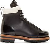 Feit Black Leather Arctic Hiker Boots