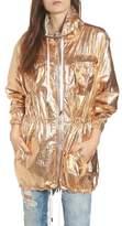 Blank NYC BLANKNYC Reversible Metallic Long Jacket