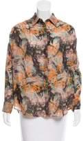 Megan Park Wool Floral Top