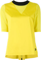 Nike contrast collar T-shirt - women - Cotton/Nylon/Spandex/Elastane - S