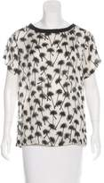 L'Agence Short Sleeve Printed Top
