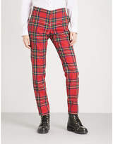 Burberry Hanover tapered wool trousers